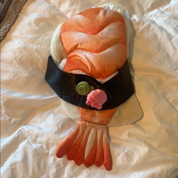 Sushi dog costume for medium dog